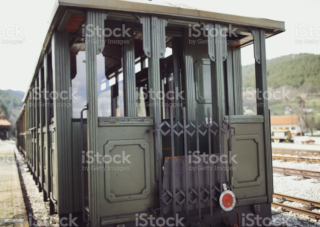 Steam train composition on railway journey - Royalty-free Aging Process Stock Photo
