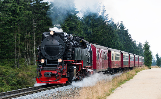 steam train from brocken station im Harz