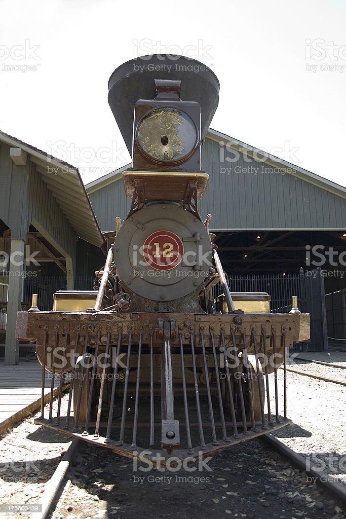 Steam Train Front stock photo