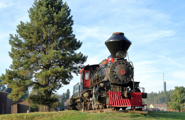 1880 Steam Train in Hill City, South Dakota Hill City, South Dakota - September 3, 2018: 1880 Steam Train 1880 stock pictures, royalty-free photos & images