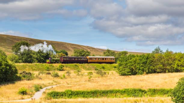 Stoomtrein van de heritage railway in Blaenavon, Wales, UK foto