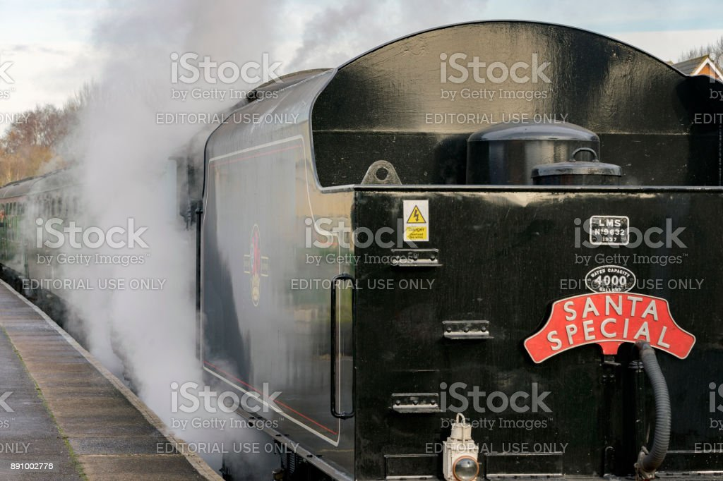 Steam train on the Watercress Heritage Railway stock photo