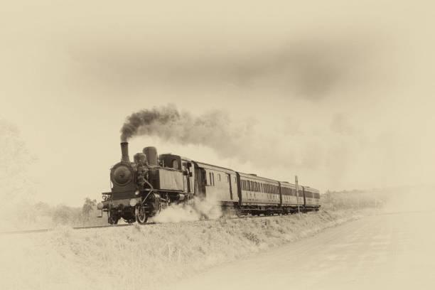 pociąg parowy - archiwalny zdjęcia i obrazy z banku zdjęć