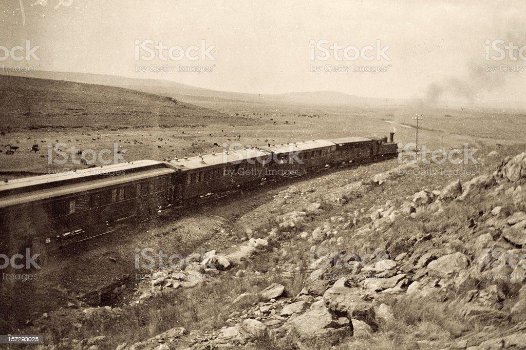 Zug mit Dampflokomotive – Foto