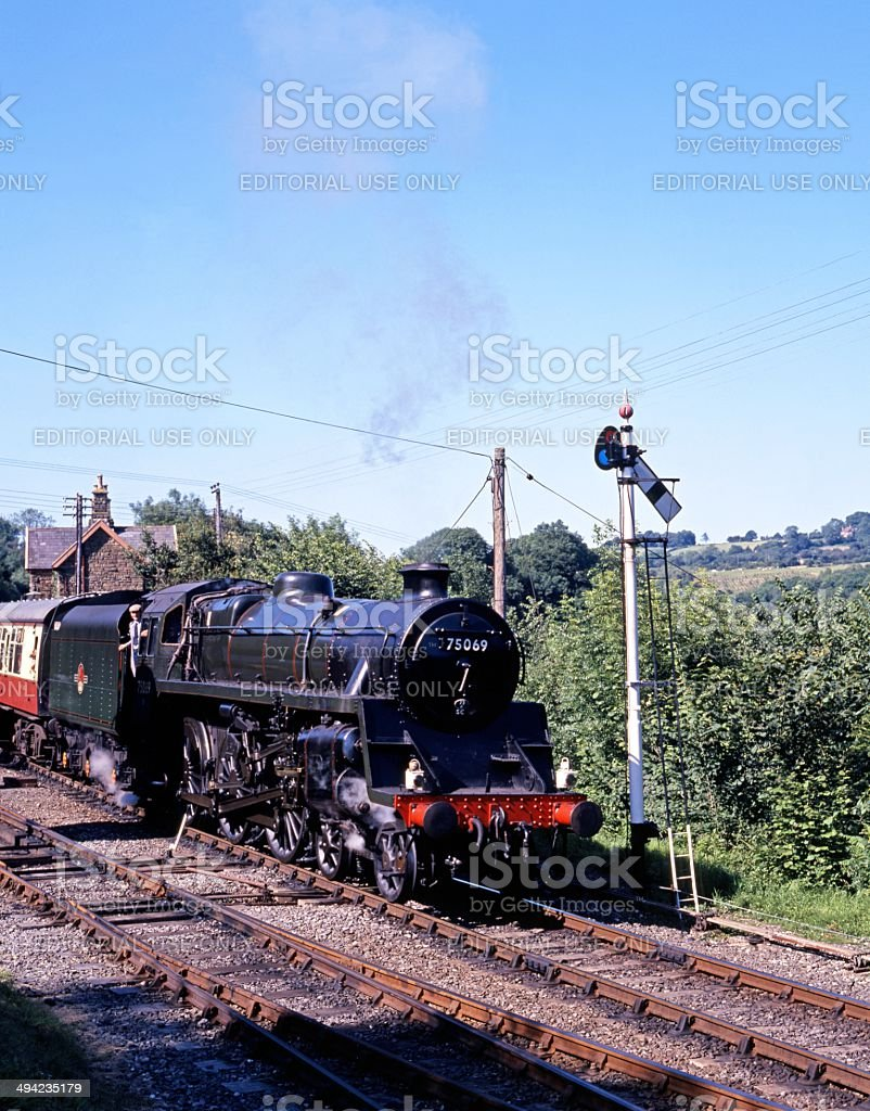 Steam train, Severn Valley Railway, Highley, UK. stock photo
