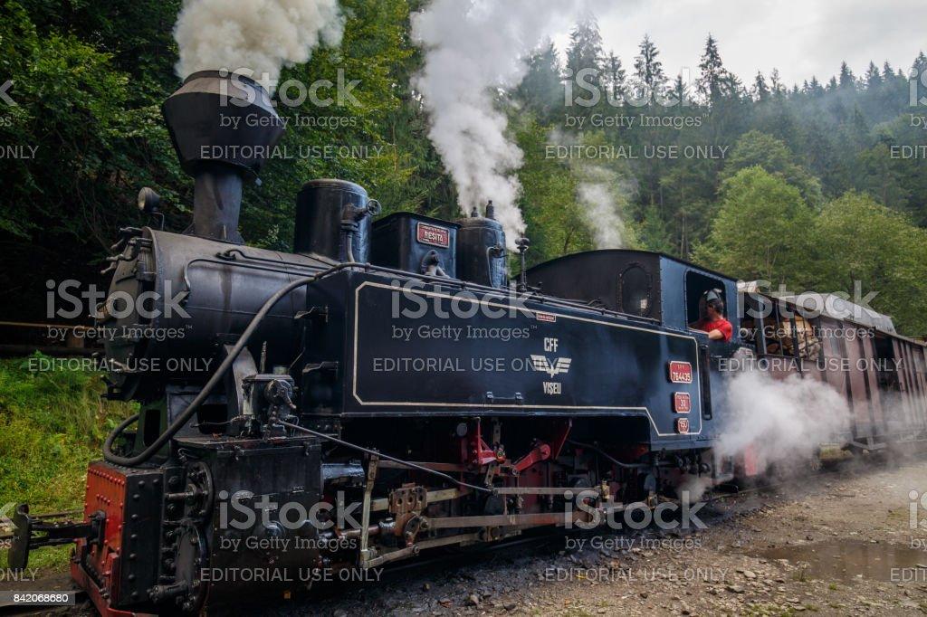 Steam train, Transylvania, Romania stock photo