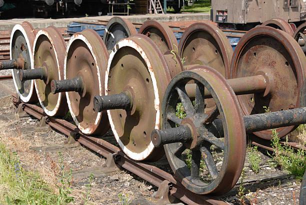 Steam Train Wheels stock photo