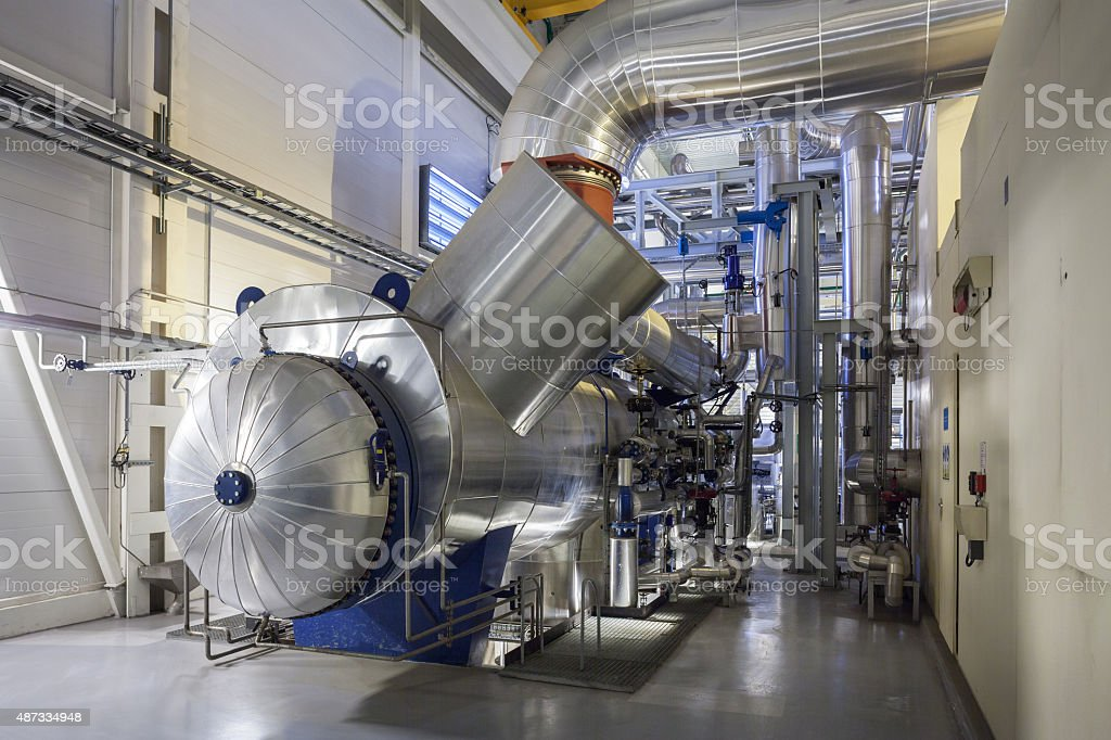 steam turbine condenser stock photo