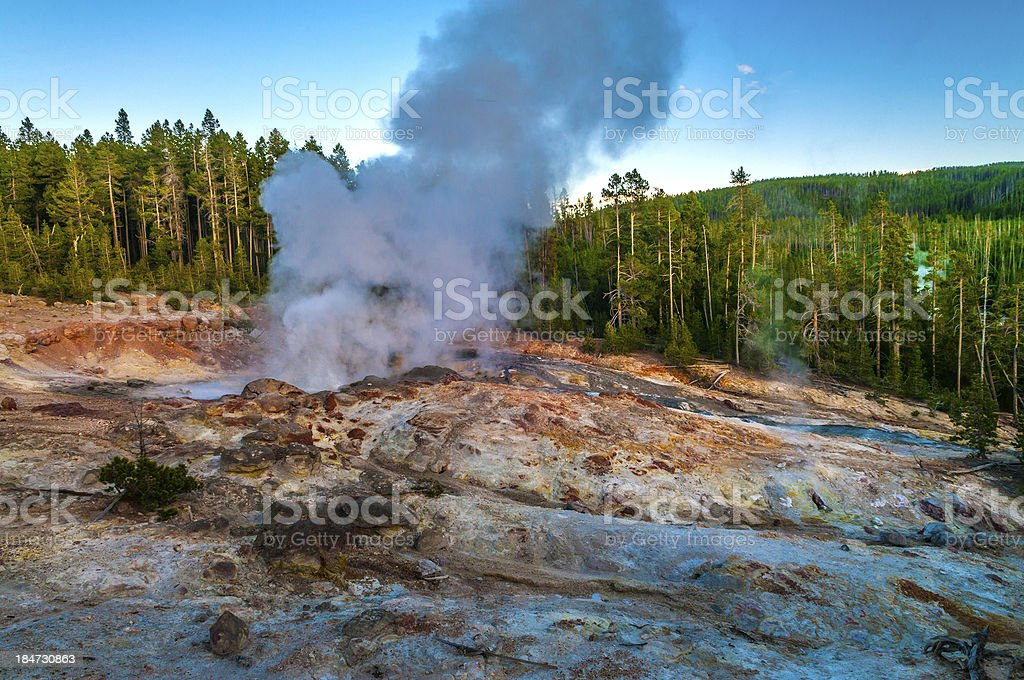 Steamboat Geyser stock photo