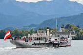 istock Steam-boat Gisela on lake Traunsee 1310716440
