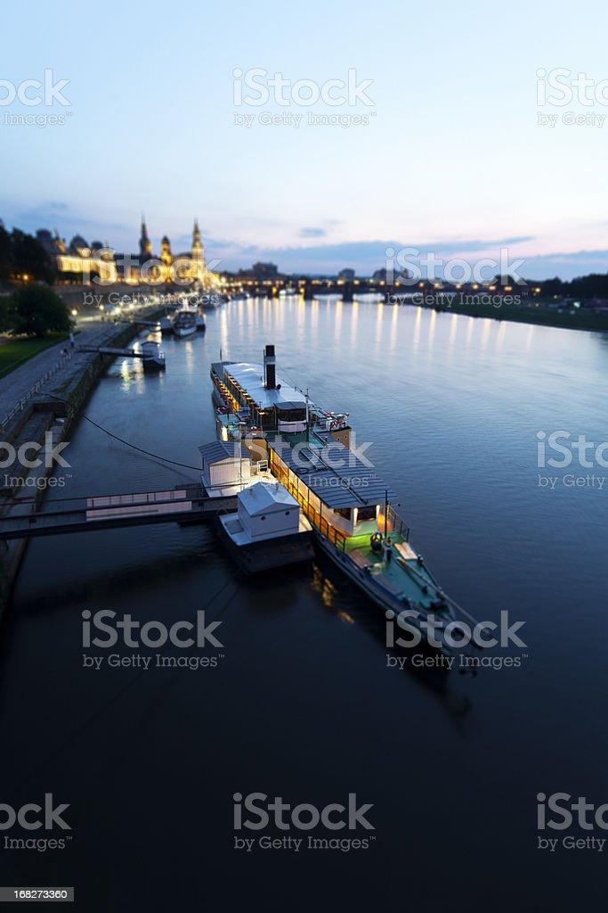 Steamboat in Dresden. stock photo