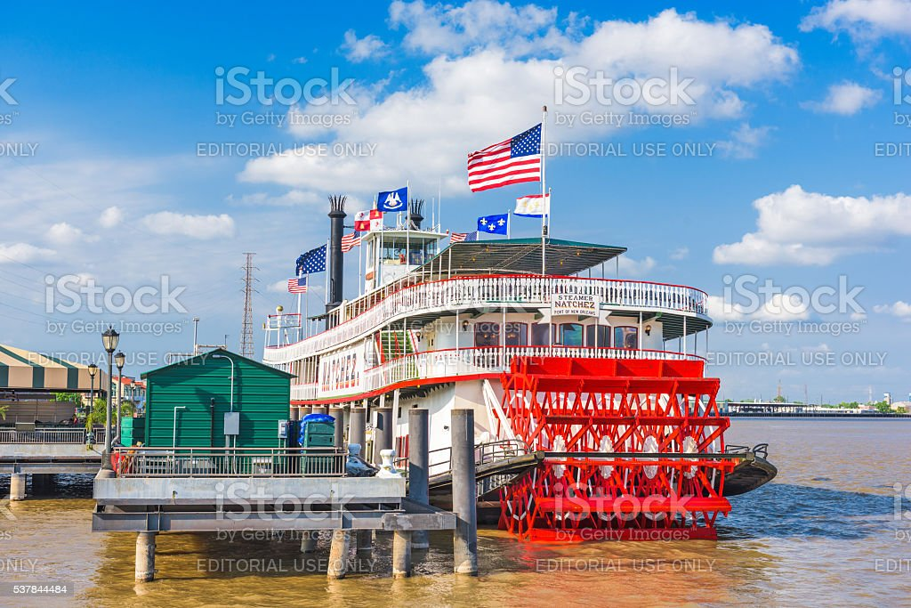 Steamboat Natchez in New Orleans stock photo