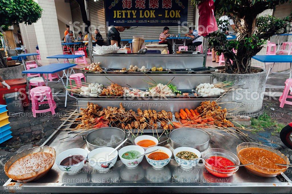 Steamboat stall at the Kimberly Street Market, Penang stock photo