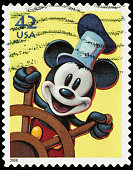 USA Steamboat Willie's Mickey Mouse postage stamp