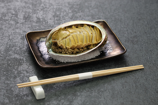 istock steamed abalone with sake, japanese cuisine 1175531074