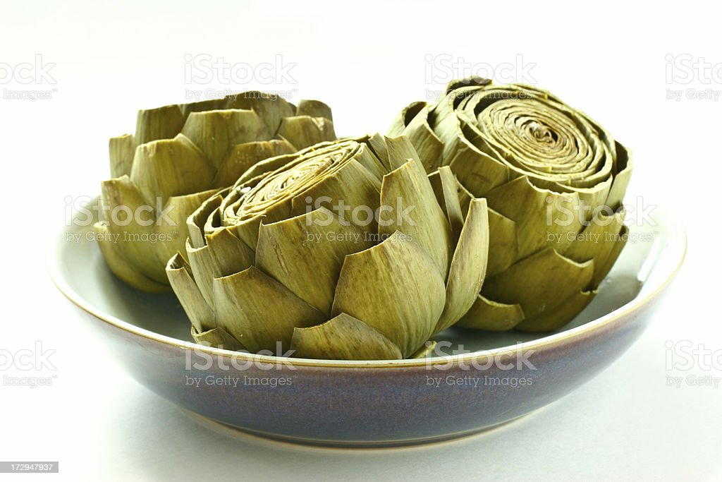 Steamed Artichokes royalty-free stock photo
