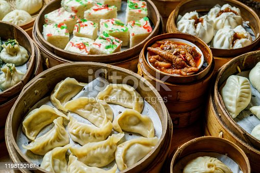Steamed asian dumplings