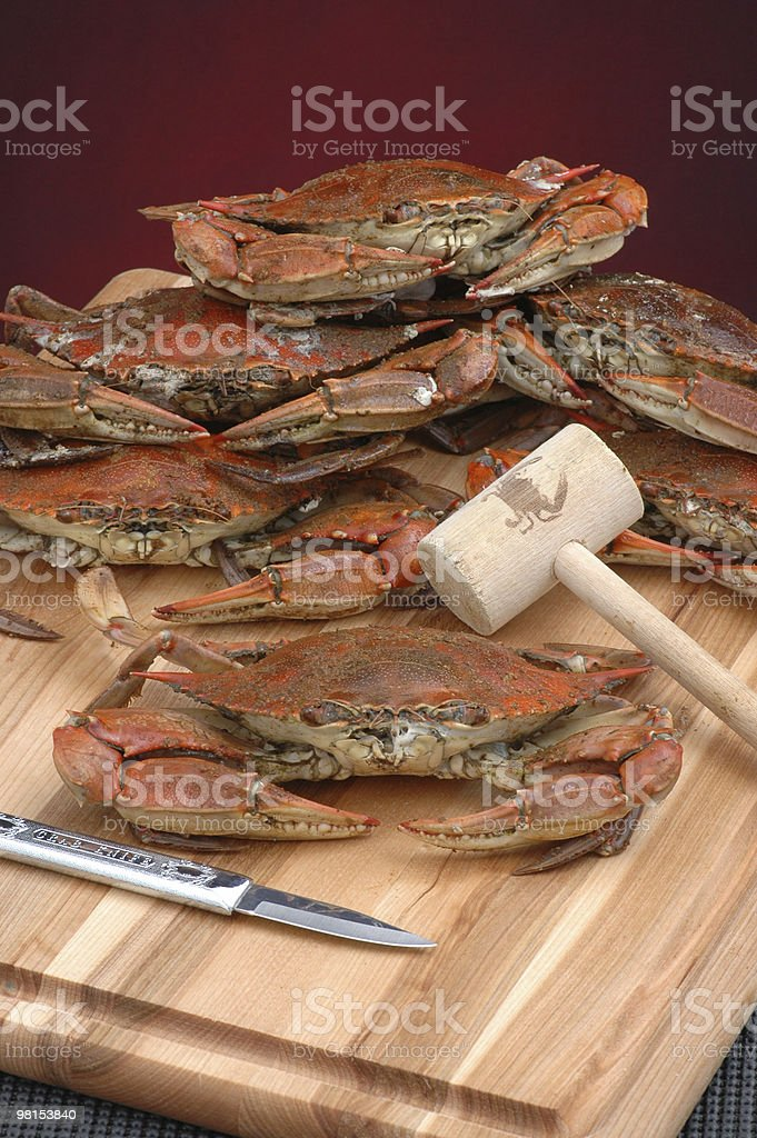 Steamed Blue Crabs royalty-free stock photo