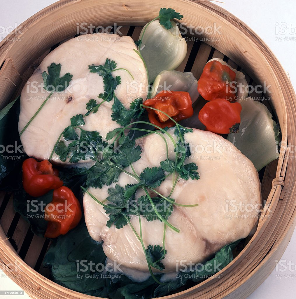 Steamed Butterfish royalty-free stock photo