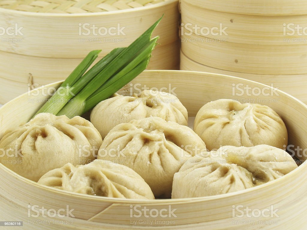 Steamed Chinese Buns stock photo