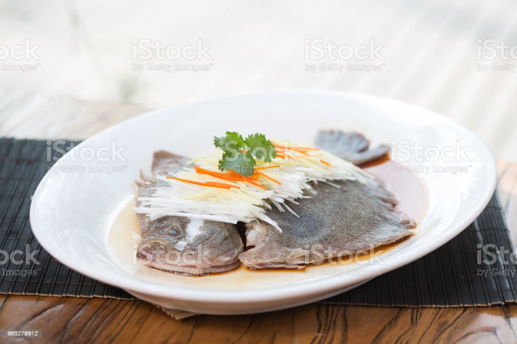 Steamed fish & chopped scallion zbiór zdjęć royalty-free