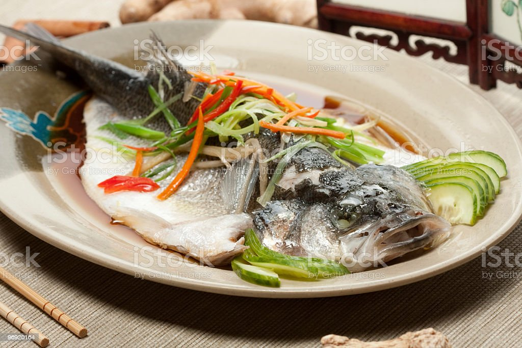 steamed fish royalty-free stock photo