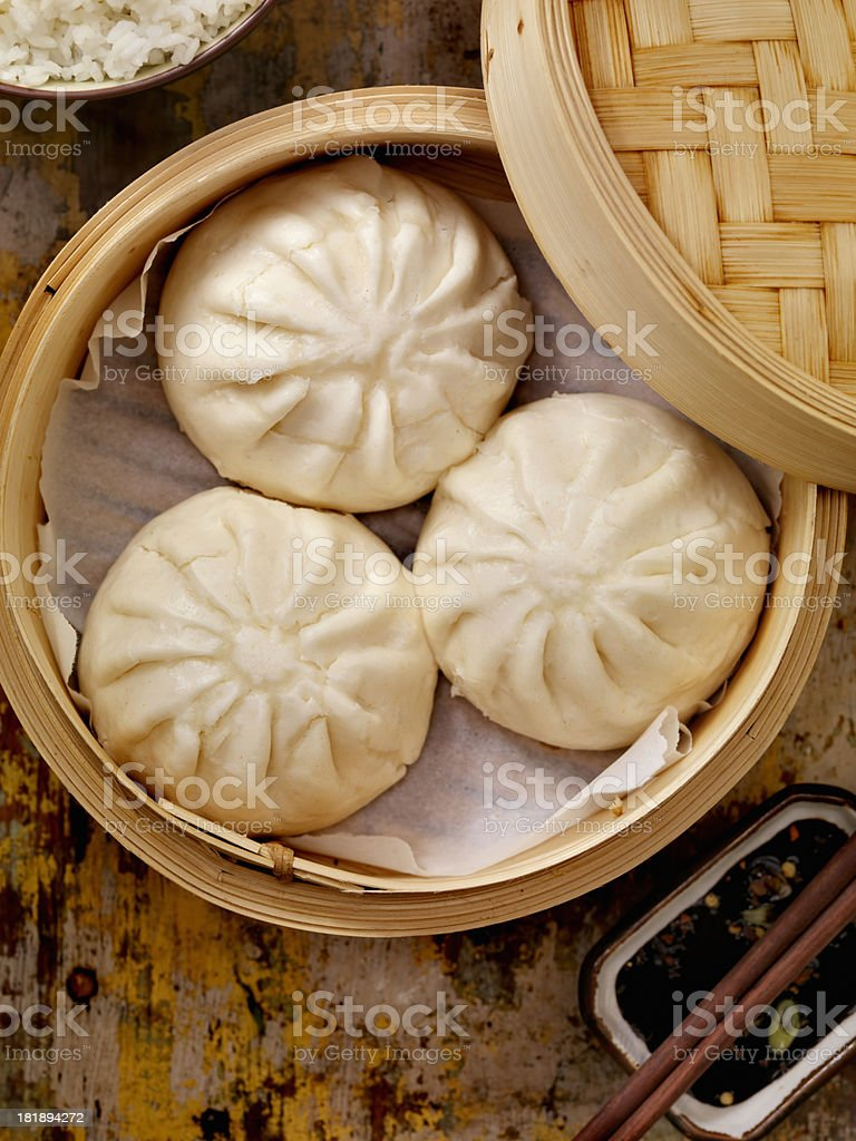 Steamed Pork Buns royalty-free stock photo