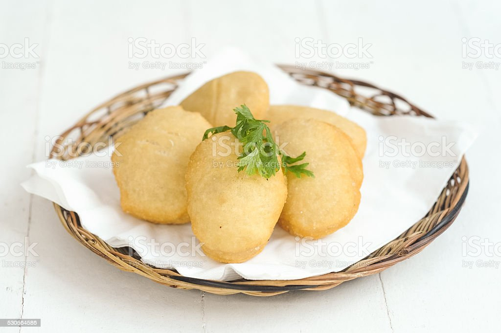Steamed potatoes stock photo