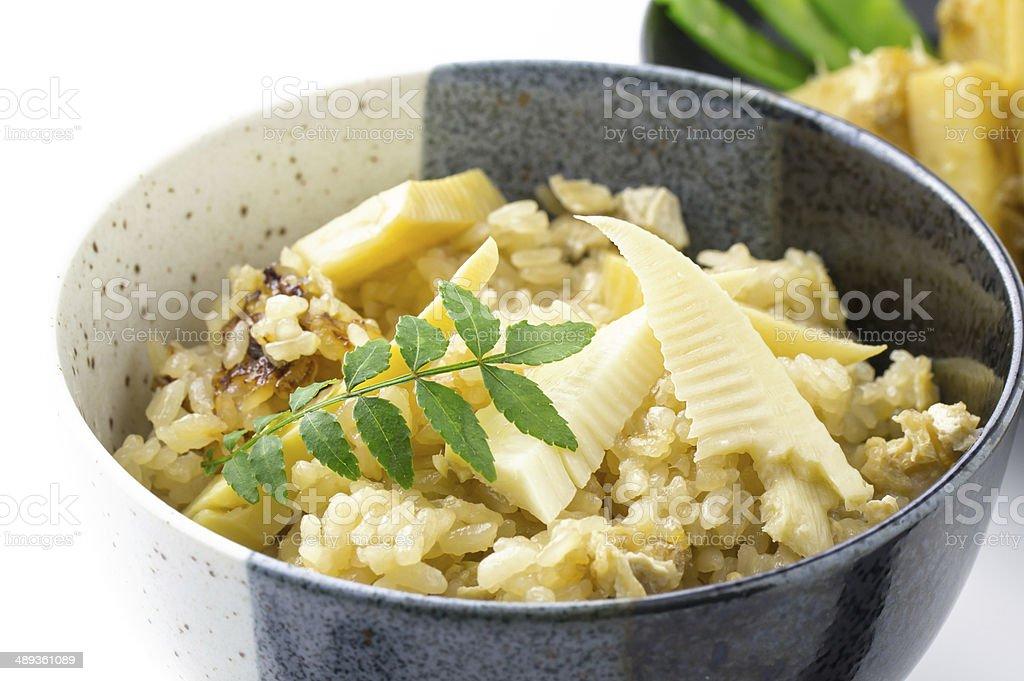 Gedünsteter Reis und Bambussprossen