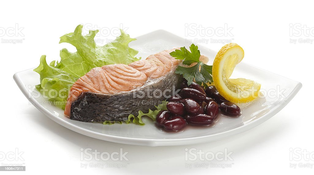 Steamed salmoon royalty-free stock photo