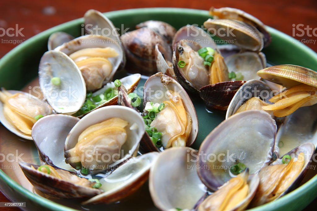 Steamed Shellfish stock photo