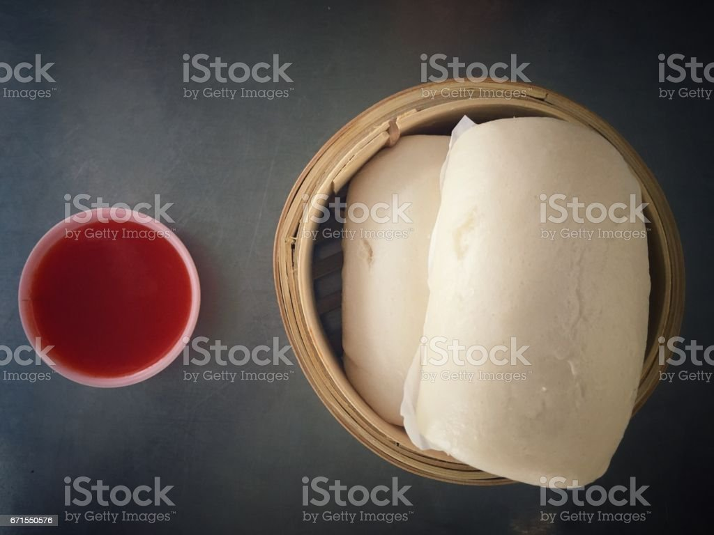 Steamed stuff bun and Chinese snacks - foto de acervo