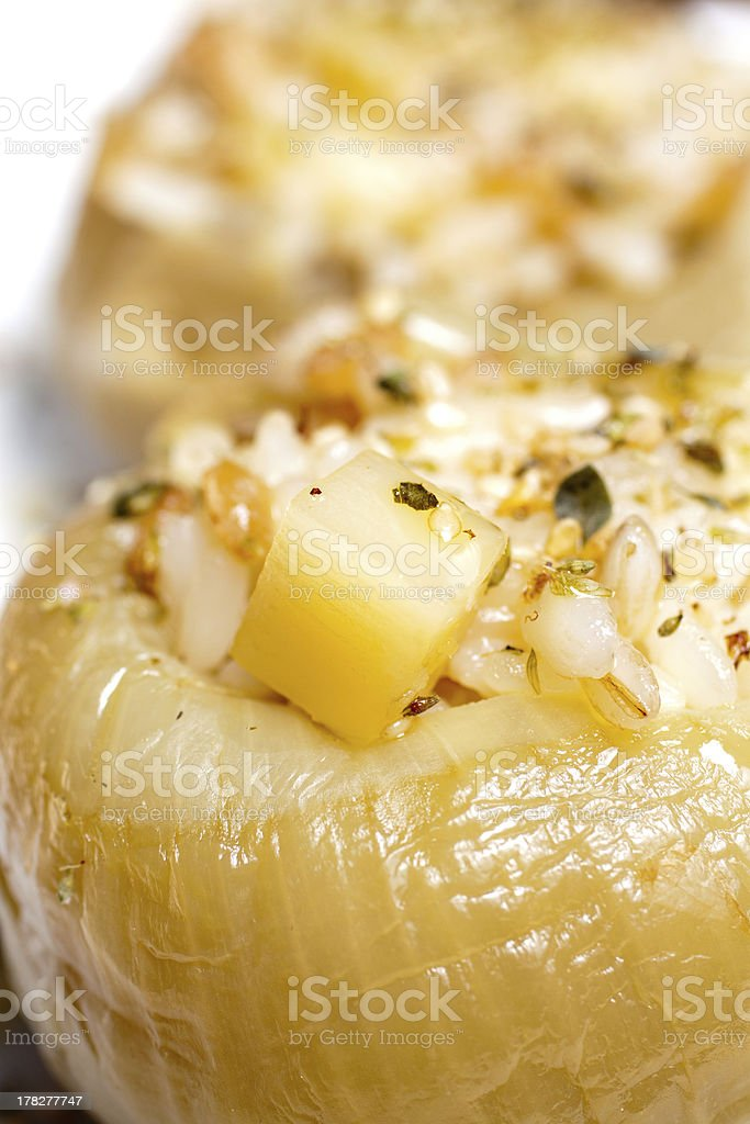 steamed stuffed onions royalty-free stock photo