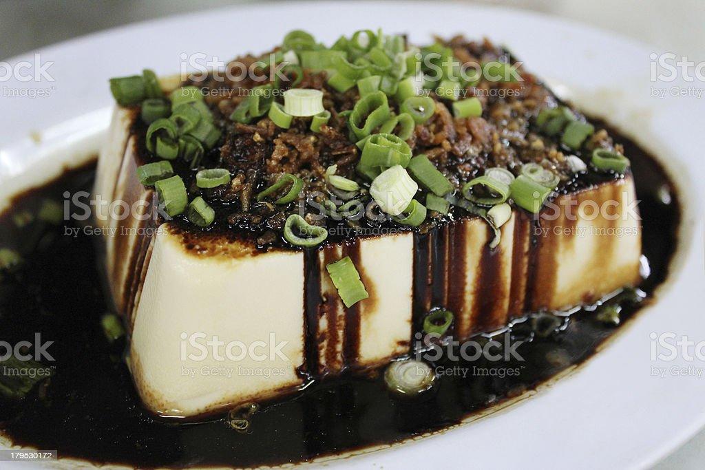 Steamed Tofu stock photo