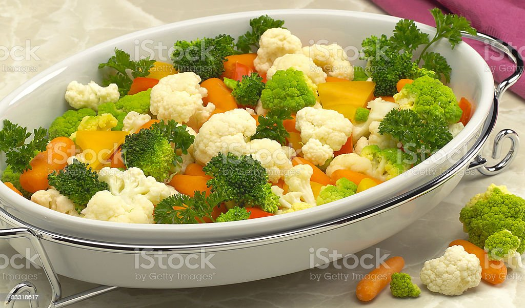 Steamed Vegetable cassarole stock photo