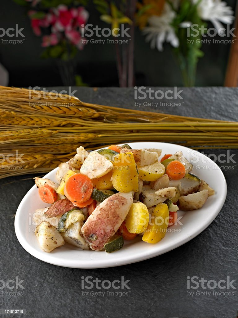 Steamed Vegetable royalty-free stock photo
