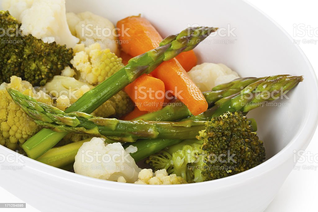 Steamed Vegetables. stock photo