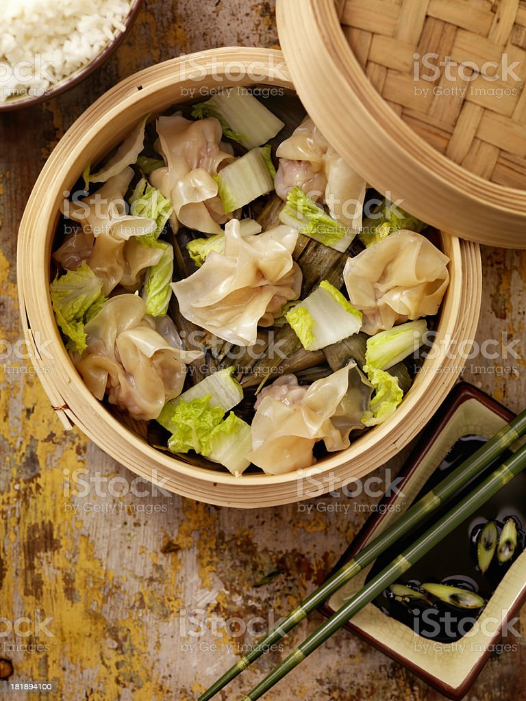 Steamed Wontons royalty-free stock photo