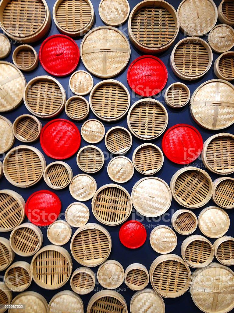 Steamer baskets stock photo