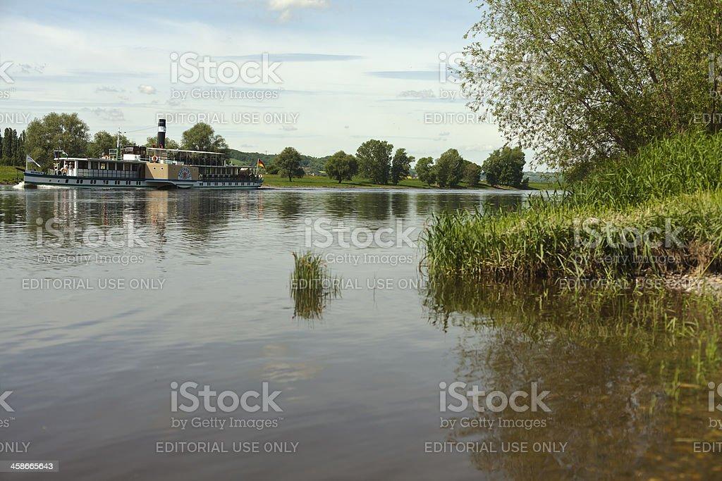 Steamer - Meissen. royalty-free stock photo