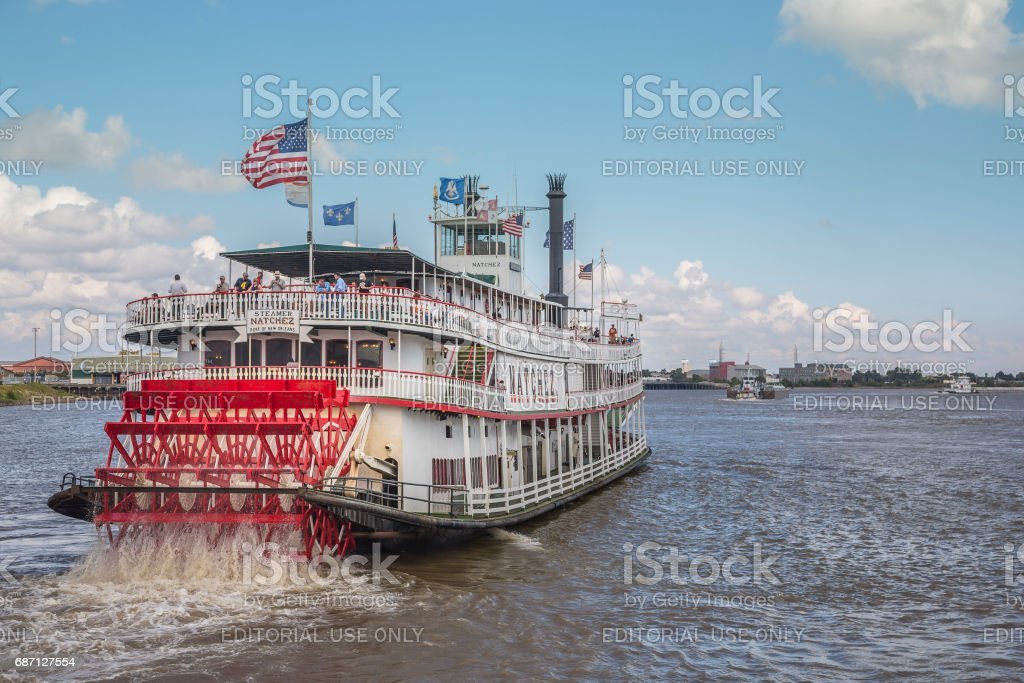 Steamer Natchez in New Orleans, louisiana, USA stock photo