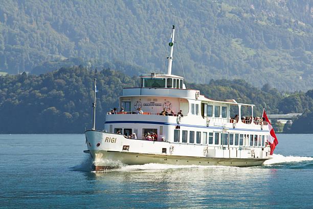 Steamer on Lucern Lake stock photo