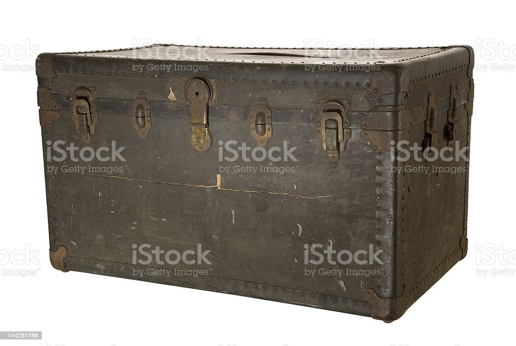 Steamer trunk royalty-free stock photo