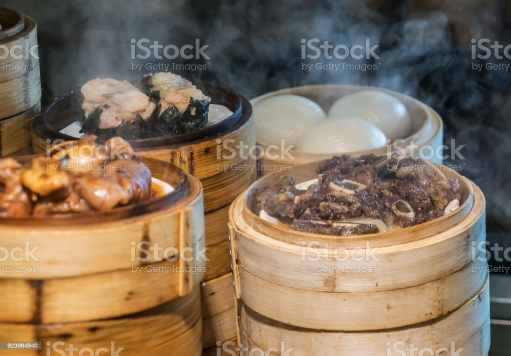 Steaming Chinese Food In The Kitchen Stock Photo Download