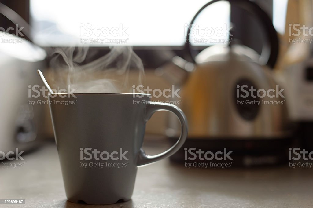 Steaming Cup stock photo