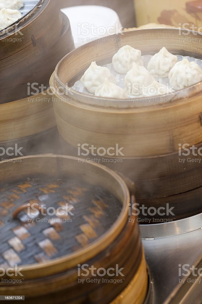 Steaming dumpling royalty-free stock photo