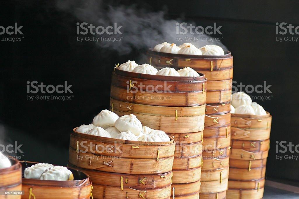Steaming Dumplings stock photo