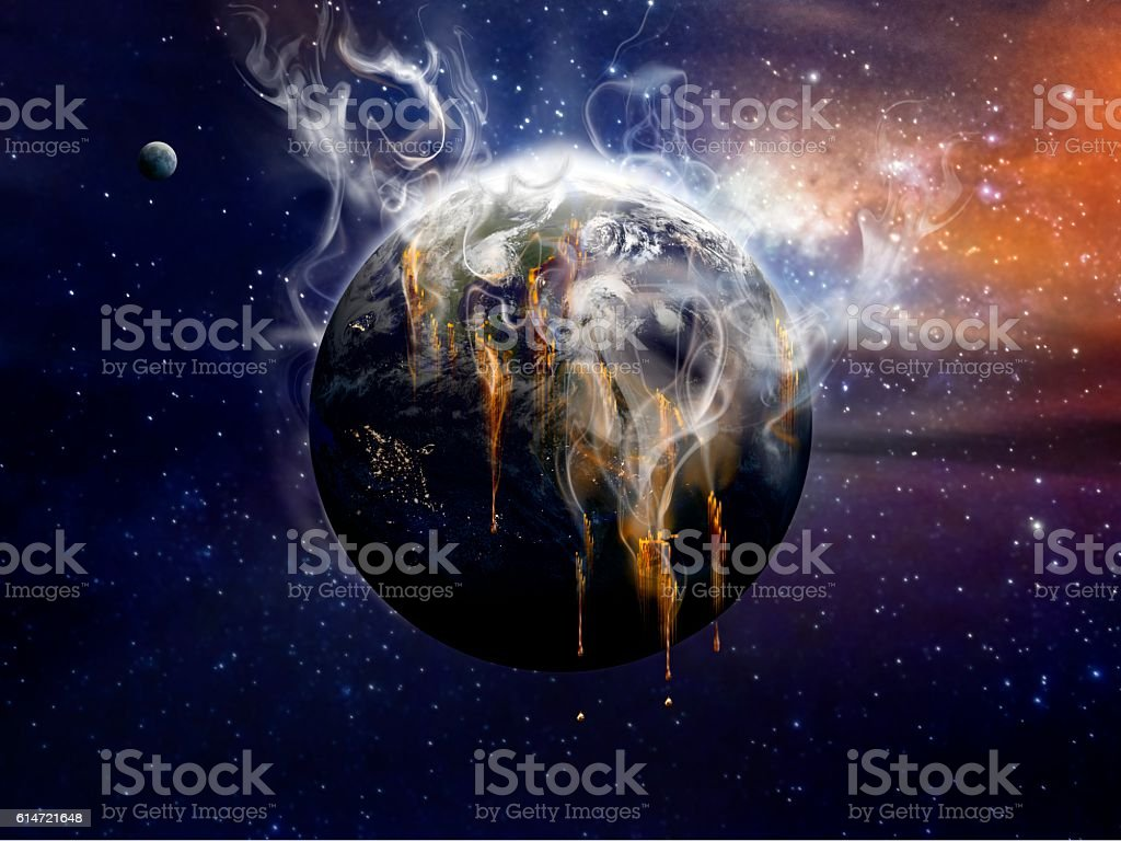 Steaming Earth stock photo