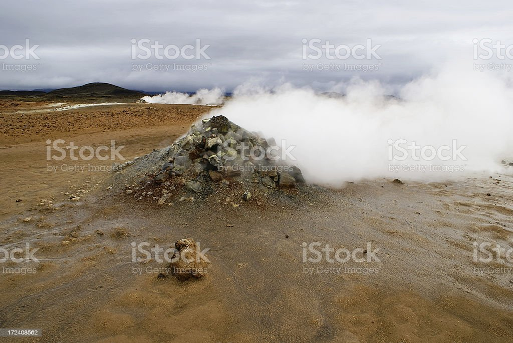 Steaming Fumaroles royalty-free stock photo