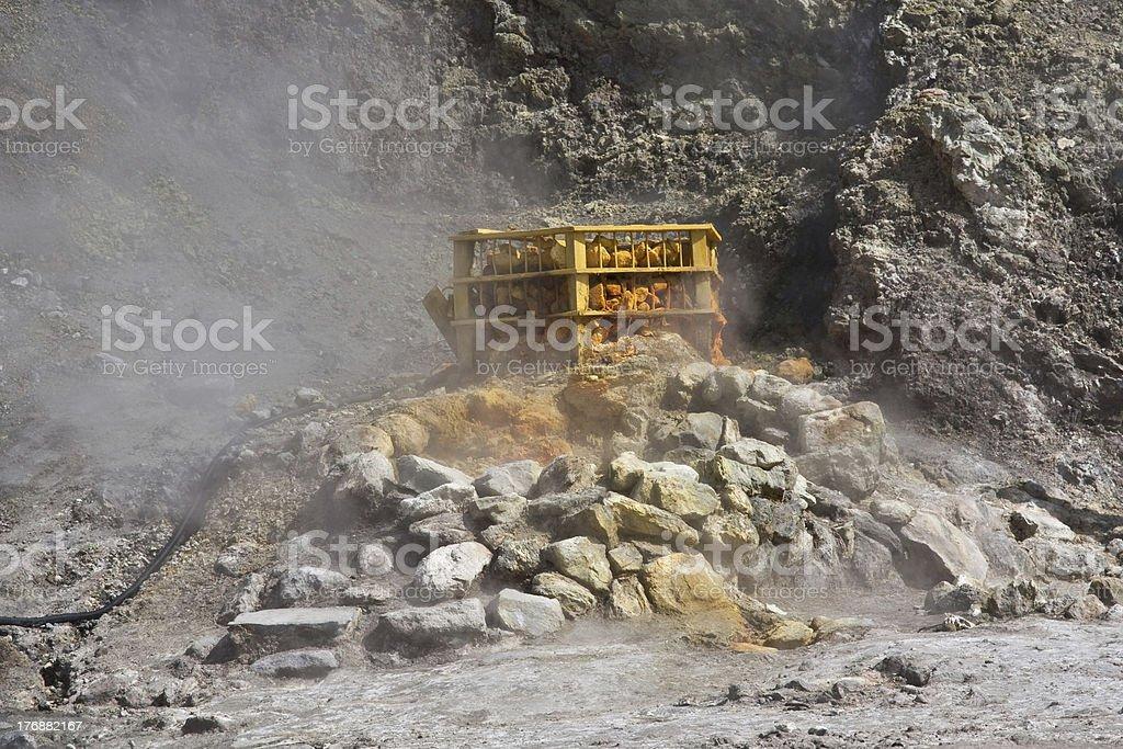 Steaming Fumerole stock photo